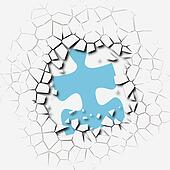 Puzzle pieces problem solution break breakthrough