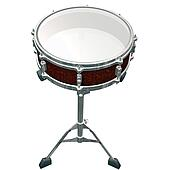 Share Drum isolated on a white