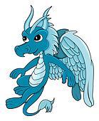 Blue dragon cartoon