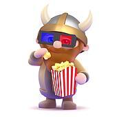 3d Viking popcorn