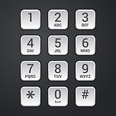 Digital dial plate of security lock or telephone keypad