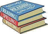 Books of reading, spelling, writing