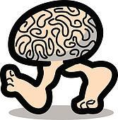 Brain walking on two legs