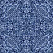 Blue Colors Art Nouveau Style Pattern design. Original Pattern a