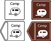 camping trailer info tuorist sign