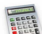 3d calculator word text payable