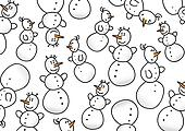 Snowman background over white