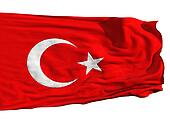 Turkish flag, fluttering in the wind