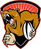 grizzly or brown bear rugby player