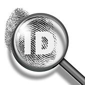 fingerprint identification biometrics concept