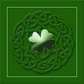 Irish Shamrock Background