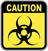 yellow and black biohazard warning sign