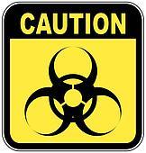 yellow and black biohazard warning sign