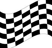 waving black and white checkered flag