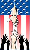 Hands Reaching for Government Help