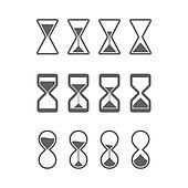 Hourglass, sandglass icons
