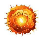 Big Cartoon Radial Explosion