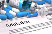 Diagnosis - Addiction. Medical Concept. 3D Render.