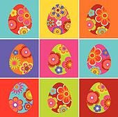 Colored Easter egg backgrounds