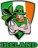Irish leprechaun rugby player