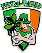 Irish leprechaun rugby player