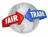 Fair Trade Arrows Around World Global Economy Living Wages Suppl