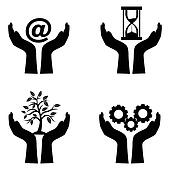 save technology icons
