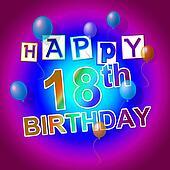 Happy Birthday Represents Cheerful Fun And Celebrations
