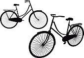 vintage bicycle, vector