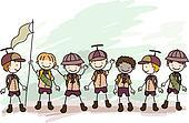 Boy Scouts Doodle