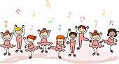 Kids Practicing Ballet