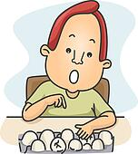 Man Counting Eggs