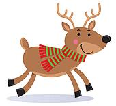 Cute Reindeer Wearing A Scarf