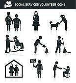 Volunteer icons set