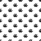 Animal paw seamless pattern