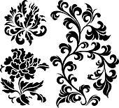 decorative spiral plant element