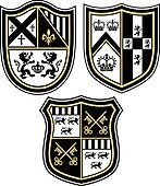 classic heraldic emblem crest shiel