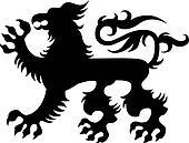 heraldic classic griffin design
