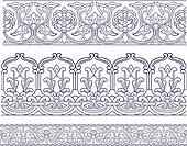 seamless ornate element border