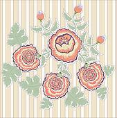 striped chrysanthemum