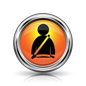 Safety belt icon