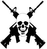 Skull and Guns - vector