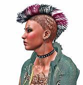 Punk rocker girl