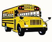 Yellow american school bus