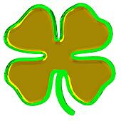 clover golden green