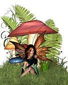 Woodland Mushroom Fairy