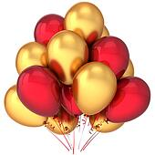 Birthday luxury balloons red golden