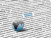Global SOCIAL MEDIA network connect words page