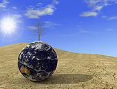 Environment emergency - arid earth digital artwork