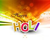 Indian festival Happy Holi splash bright colorful celebrations vector design